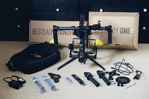 BeSteady One Stabilizer with two extra batteries and accessories.-besteadyones.jpg