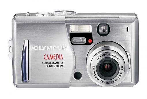 New Olympus 6 Megapixel Ultra-Compact Digital Camera-c60frontopen.jpg