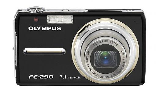 Olympus FE-300, FE-290 and FE-280 Digital Cameras - Press Release-fe-290_bl_front.jpg