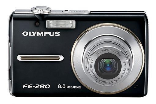 Olympus FE-300, FE-290 and FE-280 Digital Cameras - Press Release-fe280_b_front_black_q1.jpg