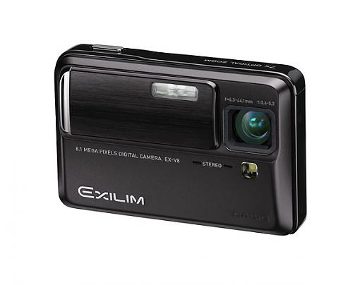 Casio Exilim EX-V8 & Exilim EX-Z1080 - Press Release-ex-v8_bk_ff_le.jpg