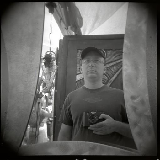A Self Portrait of The Photographer As A  Holga Photographer....-self.jpg